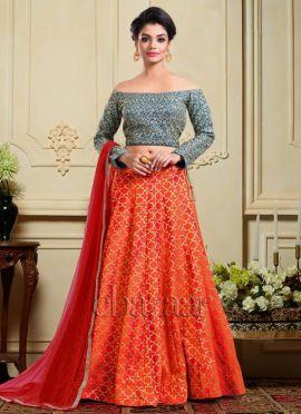 Bollywood Vogue Off Shoulder Lehenga Set