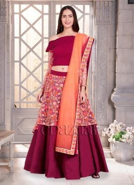 Bollywood Vogue One Shoulder Umbrella Lehenga