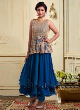 Bollywood Vogue Peplum Top Kameez N Pant Set