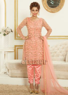 Bollywood Vogue Short Circular kameez With Churida