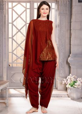 Bollywood Vogue Stylish Kameez With Cowled Patiala