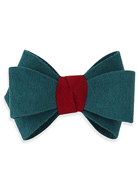 Bondi Blue N Red Bow Style Rubber Band