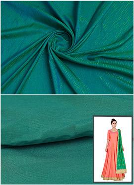 Bottle Green Art Silk Anarkali Suit