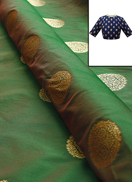 Olive Green Art Silk Blouse