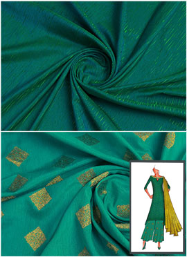 Bottle Green N Turquoise Long Kurta Palazzo Suit