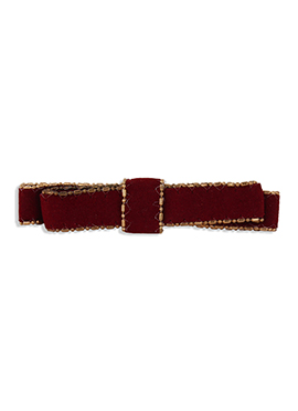 Bow Design Maroon Colored Hair Clip