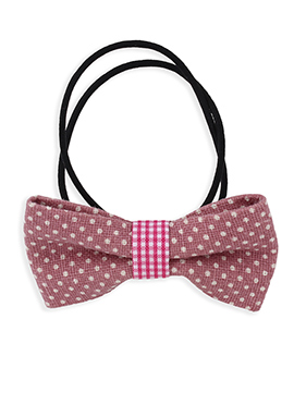 Bow Style Black N Thulian Pink Rubber Band