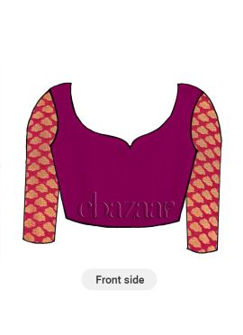 Boysenberry Dupion Silk Long Sleeve Blouse
