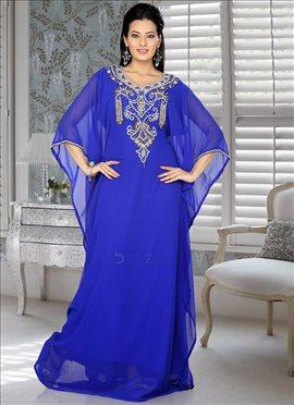 Breathtaking Georgette Farasha Fustan