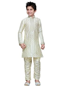 Breeches Style Off White Hand Work Teens Sherwani