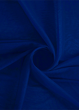 Bright Blue Opal Net Fabric