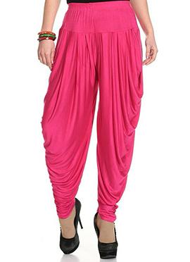 Bright Pink Rayon Dhoti Pant