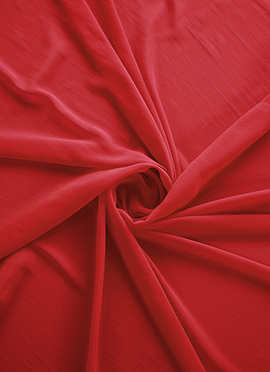 Bright Red Georgette Fabric