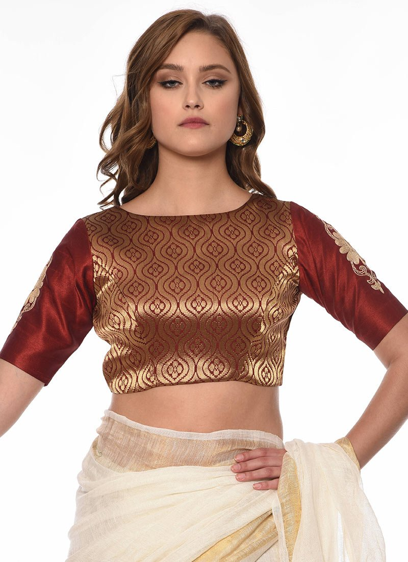 3cd085ded2 Buy Brown Art Silk Blouse