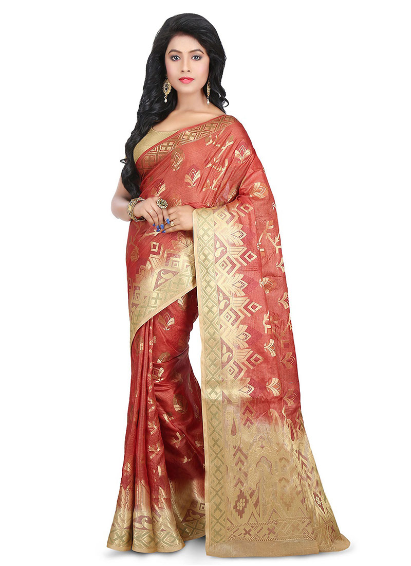 0313e48edd Buy Brown Benarasi Pure Silk Saree, Benarasi , Zari, sari Online ...