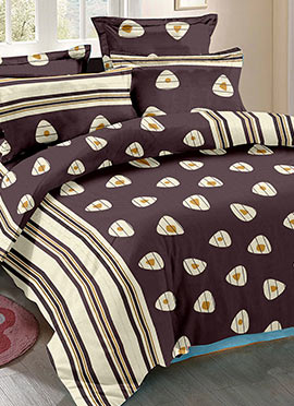 Brown Cotton Bed Sheet