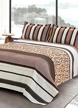 Brown Cotton Bed Sheet Set