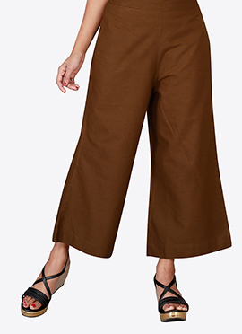Brown Cotton Culottes