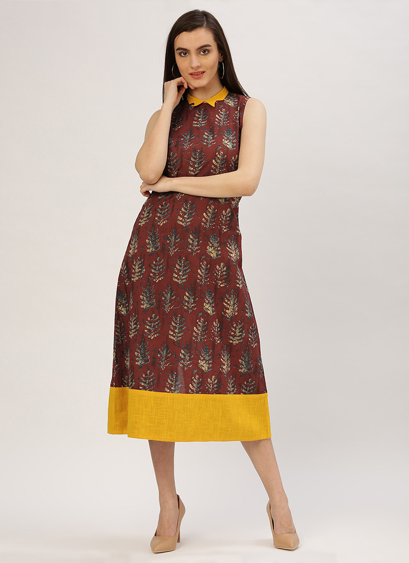 ba04c3b75389 Buy Brown Cotton Dress