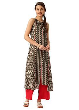 Brown Cotton Palazzo Suit