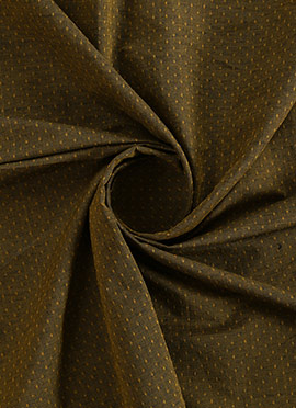 Brown Embroidered Art Silk Fabric