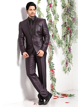 Brown Imported Fabric Lapel Style Suit