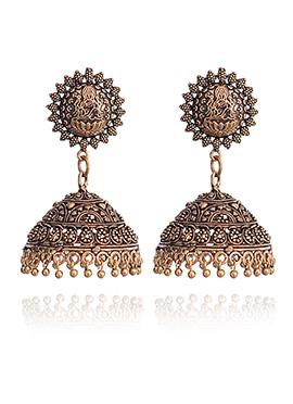 Brown Jhumka Earrings
