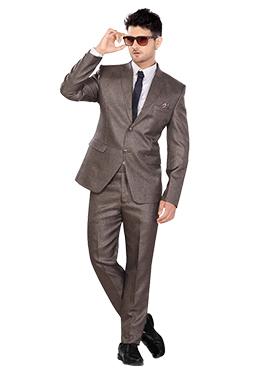 Brown Lapel Suit