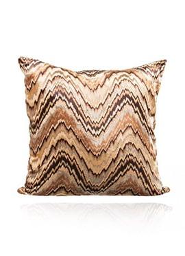 Brown N Beige Velvet Cushion Cover