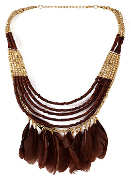 Brown N Gold Necklace