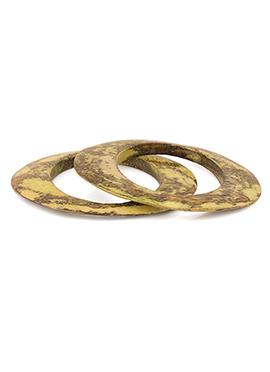 Brown N Green Bangle Bracelet