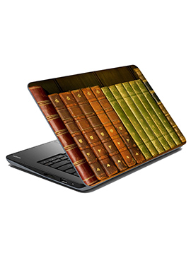 Brown N Green Library Laptop Skin