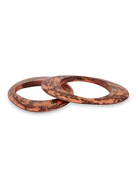 Brown N Orange Bangle Bracelet