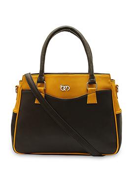 Brown N Yellow Bagsy Malone Hand Bag