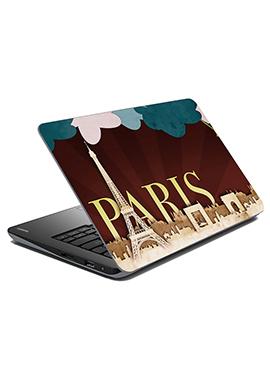 Brown Paris Laptop Skin