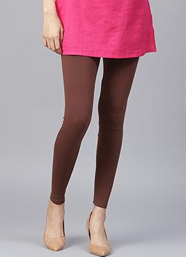 Brown Plain Leggings