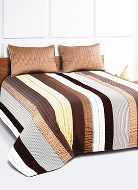Brown Pure Cotton Bed Cover