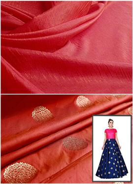 Burnt Orange N Rani Pink Highwaisted Skirt N Crop