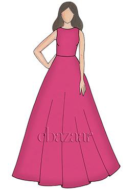 Cabaret Pink Taffeta Ball Gown