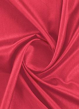 Calypso Coral Dupion Silk Fabric