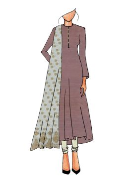 Casual Light Brown Anarkali Suit