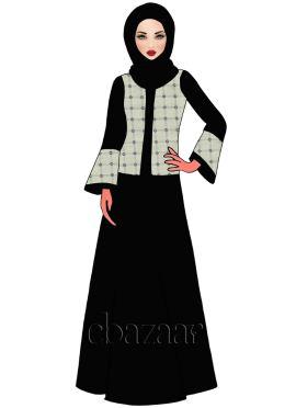 Caviar Georgette Abaya