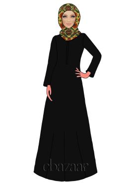Caviar N Light Yellow Georgette Abaya