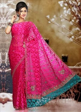 Charming Pink Patola Saree