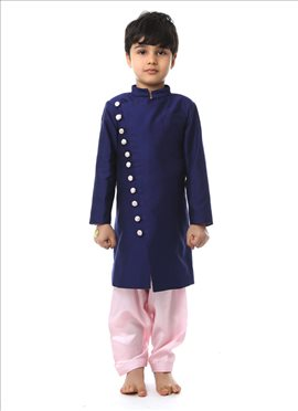 Charming Purple Silk Cotton Kurta Pyjama