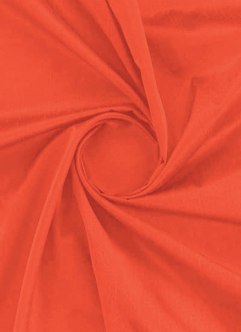 Cherry Tomato Red Art Dupion Silk Fabric