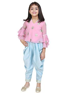 Chiquitita Baby Pink Kids Indowestern Set