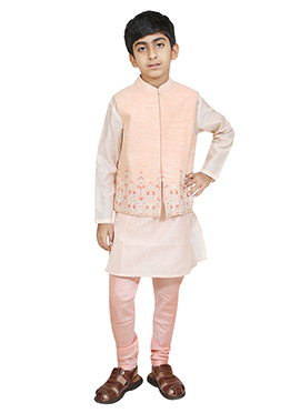 Chiquitita Blush Pink N Off White Kids Bandi Set