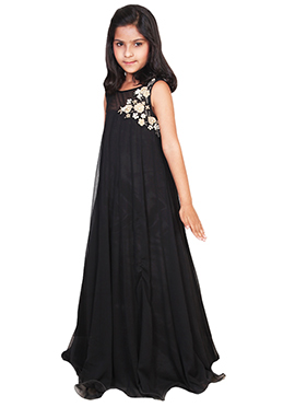 Chiquitita By Payal Bahl Black Kids Gown