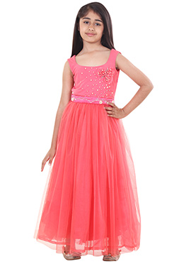 Chiquitita Coral Pink Kids Gown